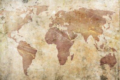 Papiers peints carte vintage du monde