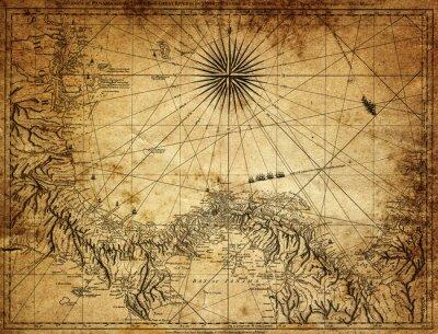 Papiers peints Carte vintage du Panama