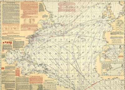 Papiers peints Carte vintage nautique