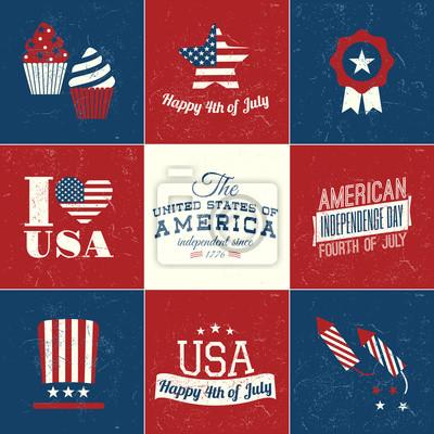 Cartes du jour d'indépendance