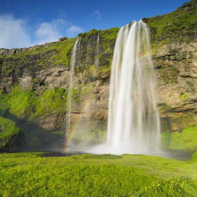 Papiers peints Cascade et arc en ciel en Islande
