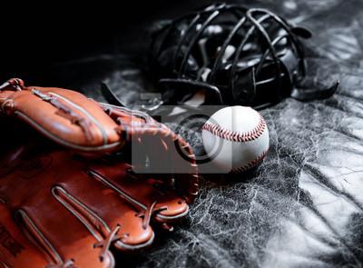 Papiers peints Casque, gant et balle de baseball