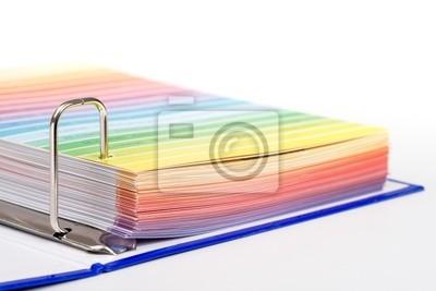 Catalogue du produit Open avec pages colorées amovibles