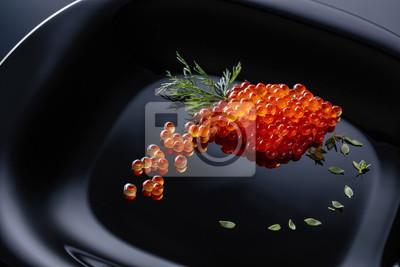 Caviar rouge à l'aneth.