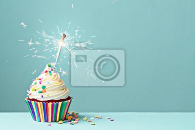 Papiers peints Célébration cupcake avec Sparkler