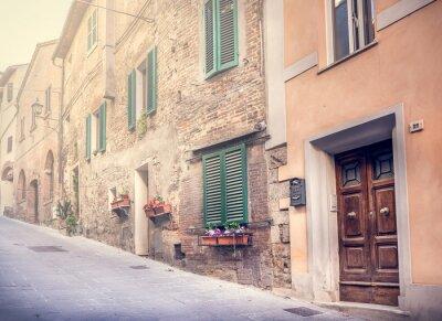 Papiers peints Célèbre rue de l'ancien Montepulciano