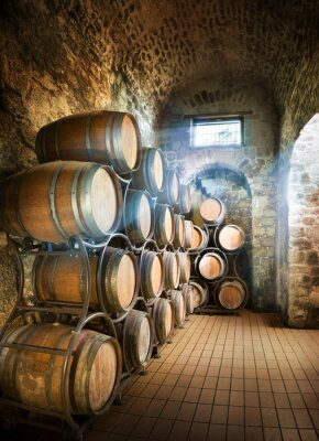 Papiers peints Cellar With Barrels For Storage Of Wine