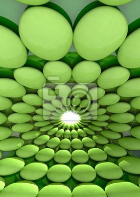 cellule verte arrondie fond frais ou modèle