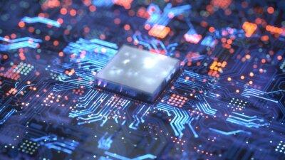 Papiers peints Central Computer Processors CPU concept. 3d rendering,conceptual image.