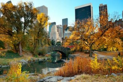 Papiers peints Central Park Automne et bâtiments dans le centre-ville de Manhattan à New York