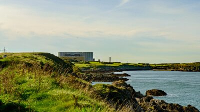 Papiers peints Centrale nucléaire désaffectée et désaffectée, Wylfa, Pays de Galles.