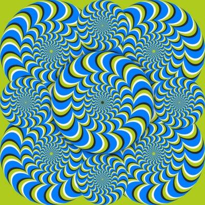 Papiers peints cercles d'ondes illusion d'optique