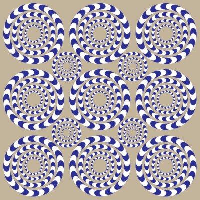 Papiers peints Cercles de Spin (illusion)