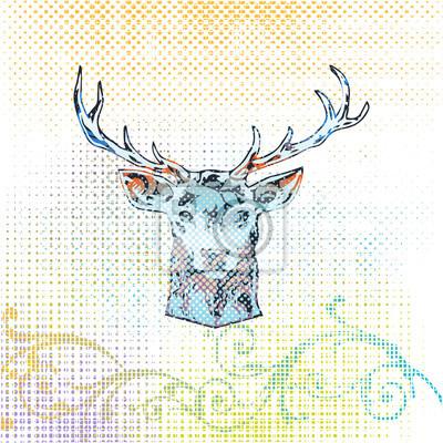Cerf coloré élégant