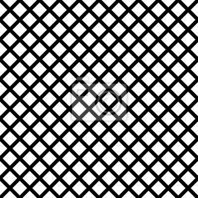 Chaîne-lien géométrique noir sur fond blanc sans vecteur. Texture répétitive au pochoir à la texture Waffle.