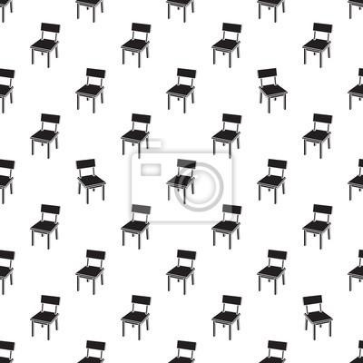 Papiers Peints Chaise Modele Sans Couture Vector Mobilier Table Isole Fond Decran Blanc