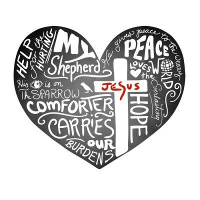 Papiers peints Chalkboard, coeur, vecteur, blanc, manuscrite, typographie, texte, chrétien, croix, jésus, rouges, lettres, inspirationnel, église, bulletin, conception, paix, Amour, aide ...