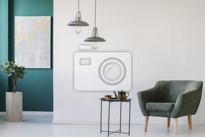 Papiers peints: Chambre moderne avec ensemble de théière