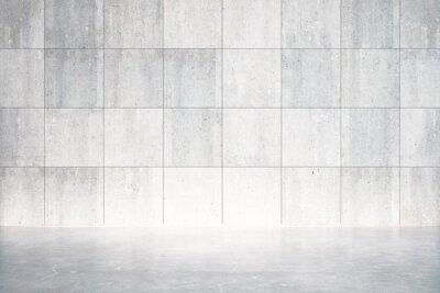 Papiers peints Chambre vide avec plancher et mur en béton