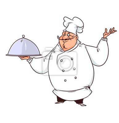 Chef cuisinier d monstration dessin anim papier - Chef cuisinier dessin ...
