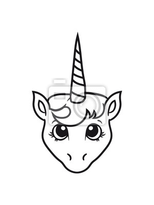 Papiers Peints Cheval De Mer Cheval Tête Unicorn Unicorn Peu Mignon Doux Poulain
