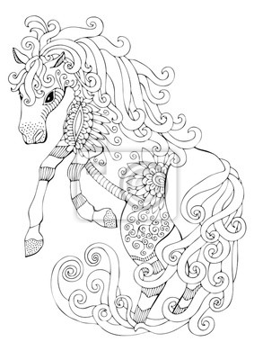 Coloriage Cheval Zen.Coloriage Anti Stress Cheval Vvivante
