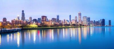 Papiers peints Chicago centre-ville et le lac Michigan Panorama