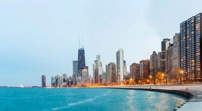 Papiers peints Chicago Panorama du lac Michigan