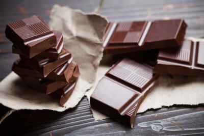 Papiers peints Chocolat avec du papier rustique