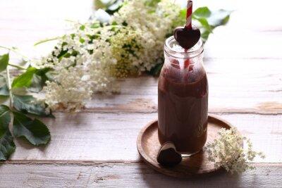 chocolate milk shake in a bottle