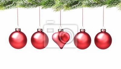 christbaunkugeln avec coeur
