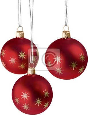 Christmas Ball Series (isolated on white with copy space)