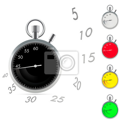 Papiers peints Chronomètre avec les chiffres de la dynamique et de la flèche trace