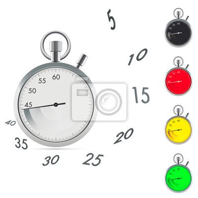 Chronomètre avec les chiffres de la dynamique et de la flèche trace