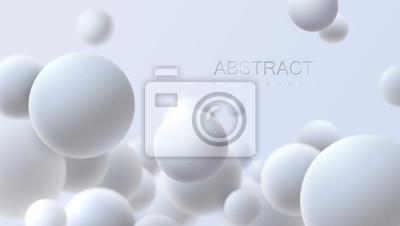 Papiers peints Chute de sphères molles blanches. Illustration réaliste de vecteur Abstrait avec des formes géométriques 3d. Conception de la couverture moderne. Modèle de bannière d'annonces. Papier peint dynamique