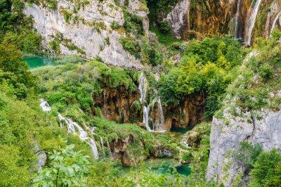 Papiers peints Chutes d'eau dans le parc national des lacs de Plitvice, Croatie