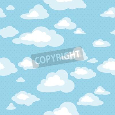 Papiers peints Ciel bleu avec des nuages, motif sans vecteur