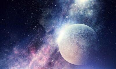 Papiers peints Ciel étoilé et lune. Médias mélangés