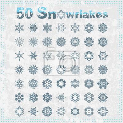 Cinquante flocons de neige