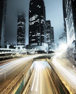 Papiers peints circulation à Hong Kong la nuit