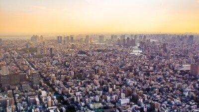 Papiers peints Citiscape de Tokyo au coucher du soleil, Japon
