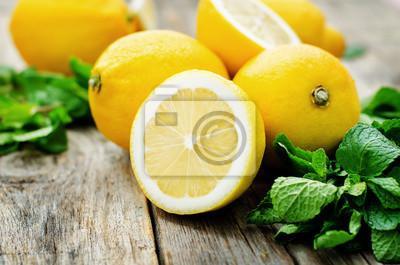 citrons et de menthe