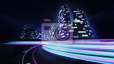 Cityscape, course, piste, coloré, lumière, Lignes