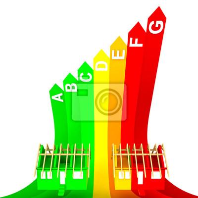 classe supérieure classé concept énergétique de la nouvelle maison