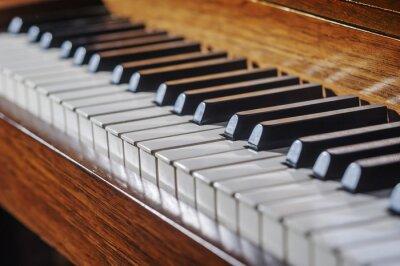 Papiers peints Close up de clavier de piano avec la profondeur de champ limitée