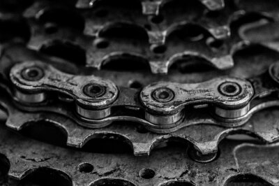 Papiers peints close-up of bicycle chain