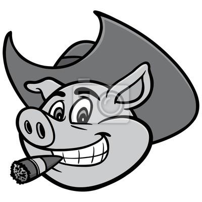 Papiers Peints Cochon Avec Cigare Illustration Une Illustration De Dessin