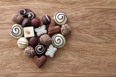 Papiers peints Coeur, bonbons, chocolat