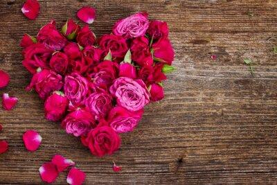 Papiers peints Coeur de roses