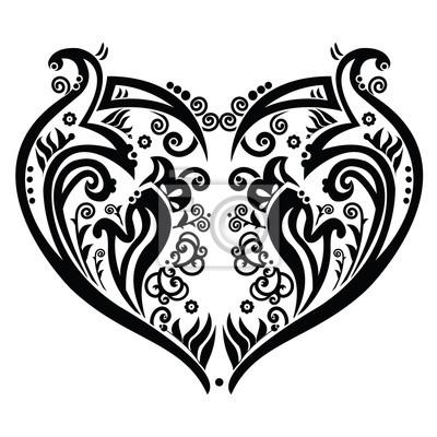 Coeur tourbillonnant tatoo inspiré